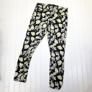 7 for All Mankind Floral Skinny Pants